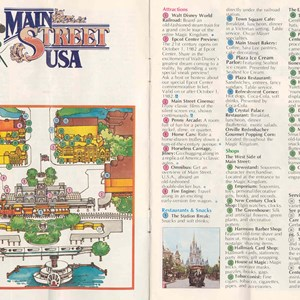 12 of 13: Walt Disney World Park and Resort Maps - Magic Kingdom Guide Book 1982