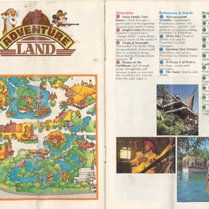 13 of 13: Walt Disney World Park and Resort Maps - Magic Kingdom Guide Book 1982