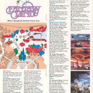 3 of 12: Walt Disney World Park and Resort Maps - Magic Kingdom Guide Book 1986