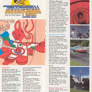 4 of 12: Walt Disney World Park and Resort Maps - Magic Kingdom Guide Book 1986