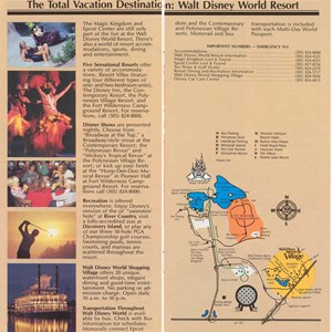 5 of 12: Walt Disney World Park and Resort Maps - Magic Kingdom Guide Book 1986