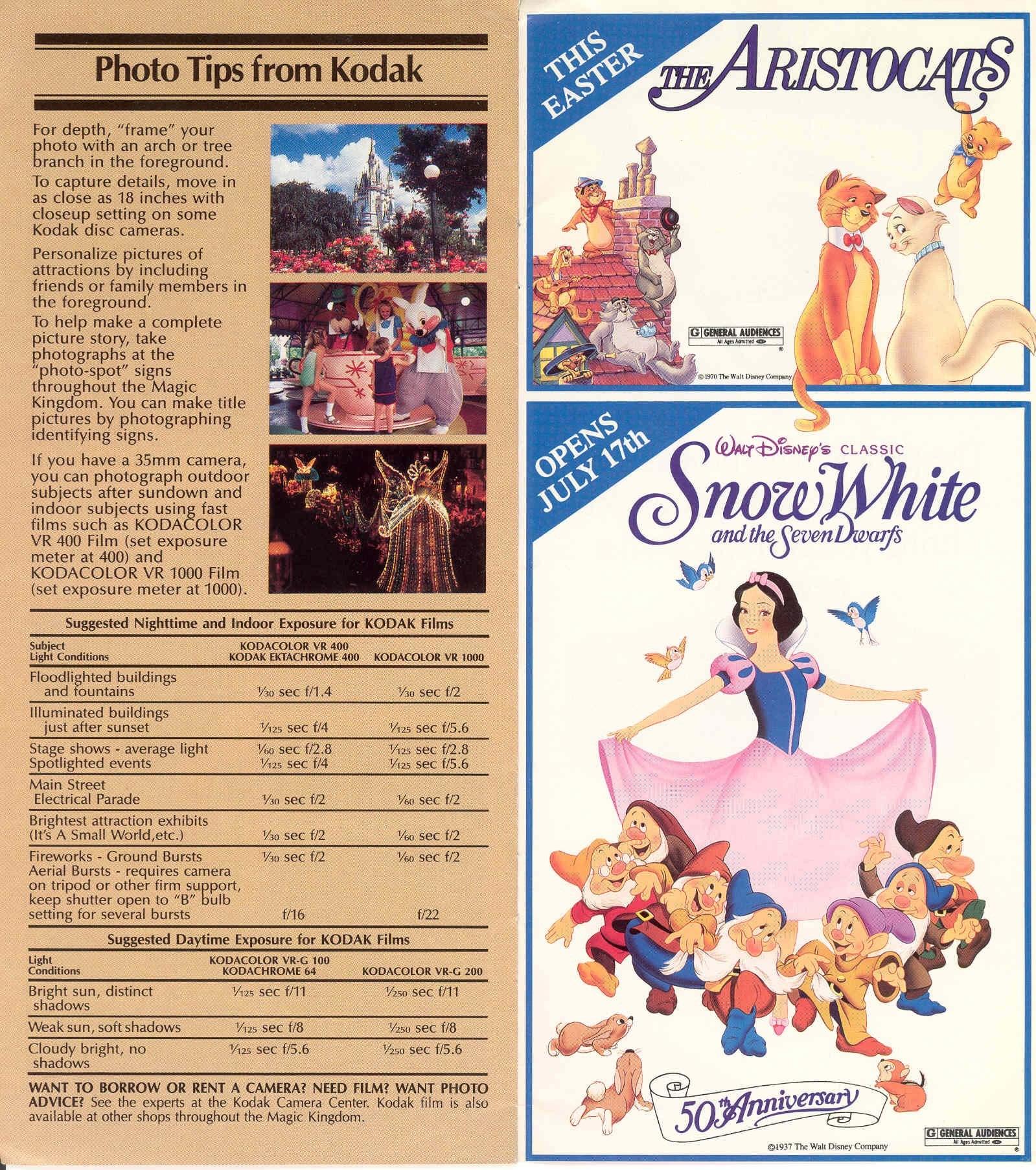 Magic Kingdom Guide Book 1986