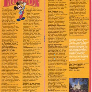 8 of 12: Walt Disney World Park and Resort Maps - Magic Kingdom Guide Book 1986