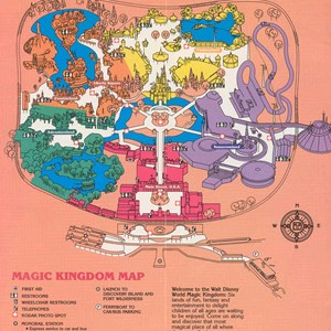 9 of 12: Walt Disney World Park and Resort Maps - Magic Kingdom Guide Book 1986