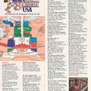 10 of 12: Walt Disney World Park and Resort Maps - Magic Kingdom Guide Book 1986