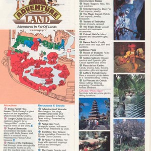 11 of 12: Walt Disney World Park and Resort Maps - Magic Kingdom Guide Book 1986