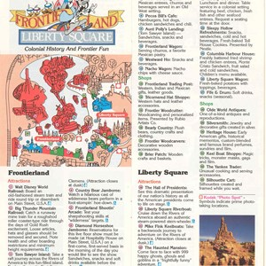 12 of 12: Walt Disney World Park and Resort Maps - Magic Kingdom Guide Book 1986