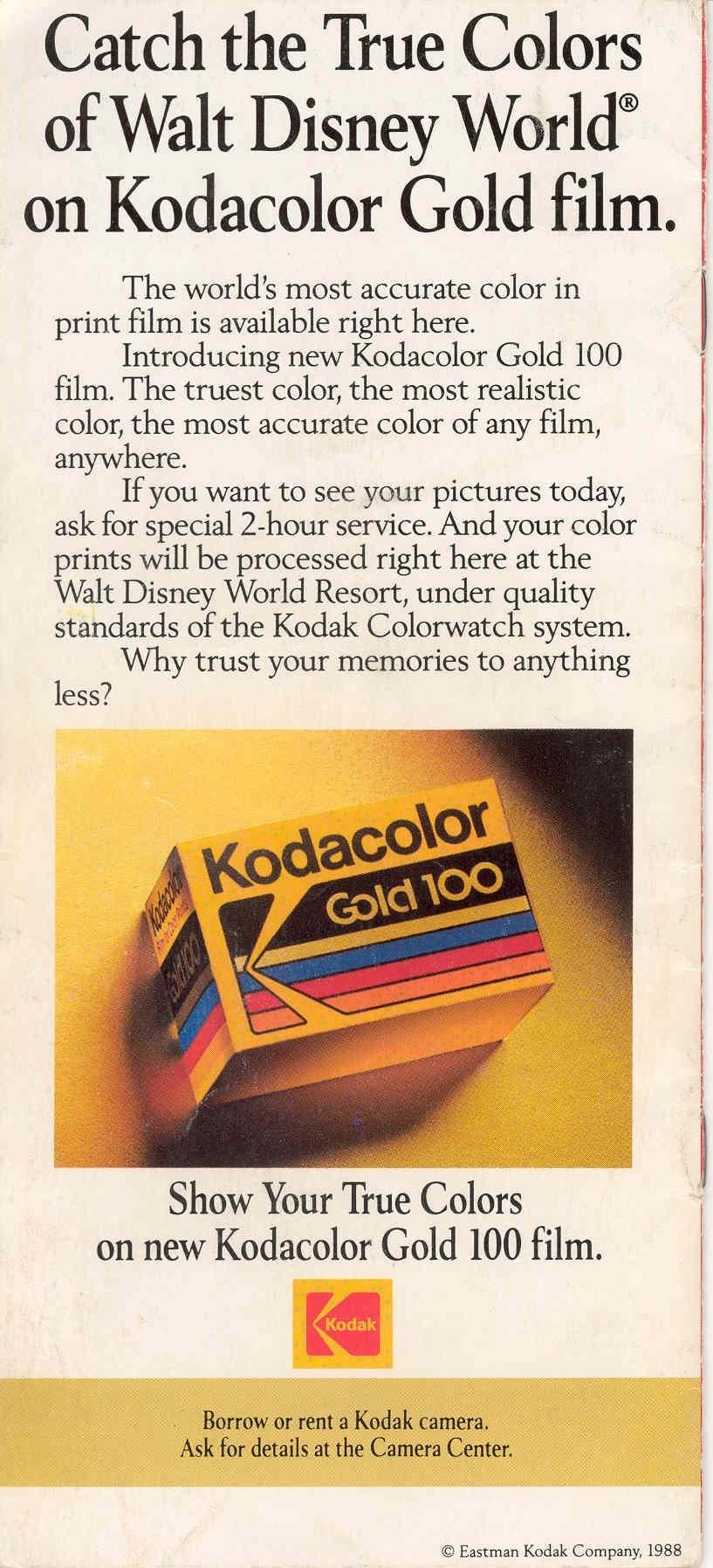 Magic Kingdom Guide Book 1988
