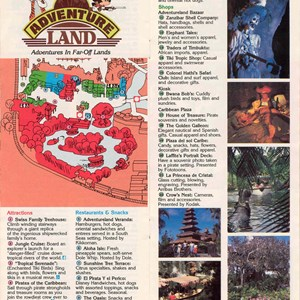 3 of 14: Walt Disney World Park and Resort Maps - Magic Kingdom Guide Book 1988