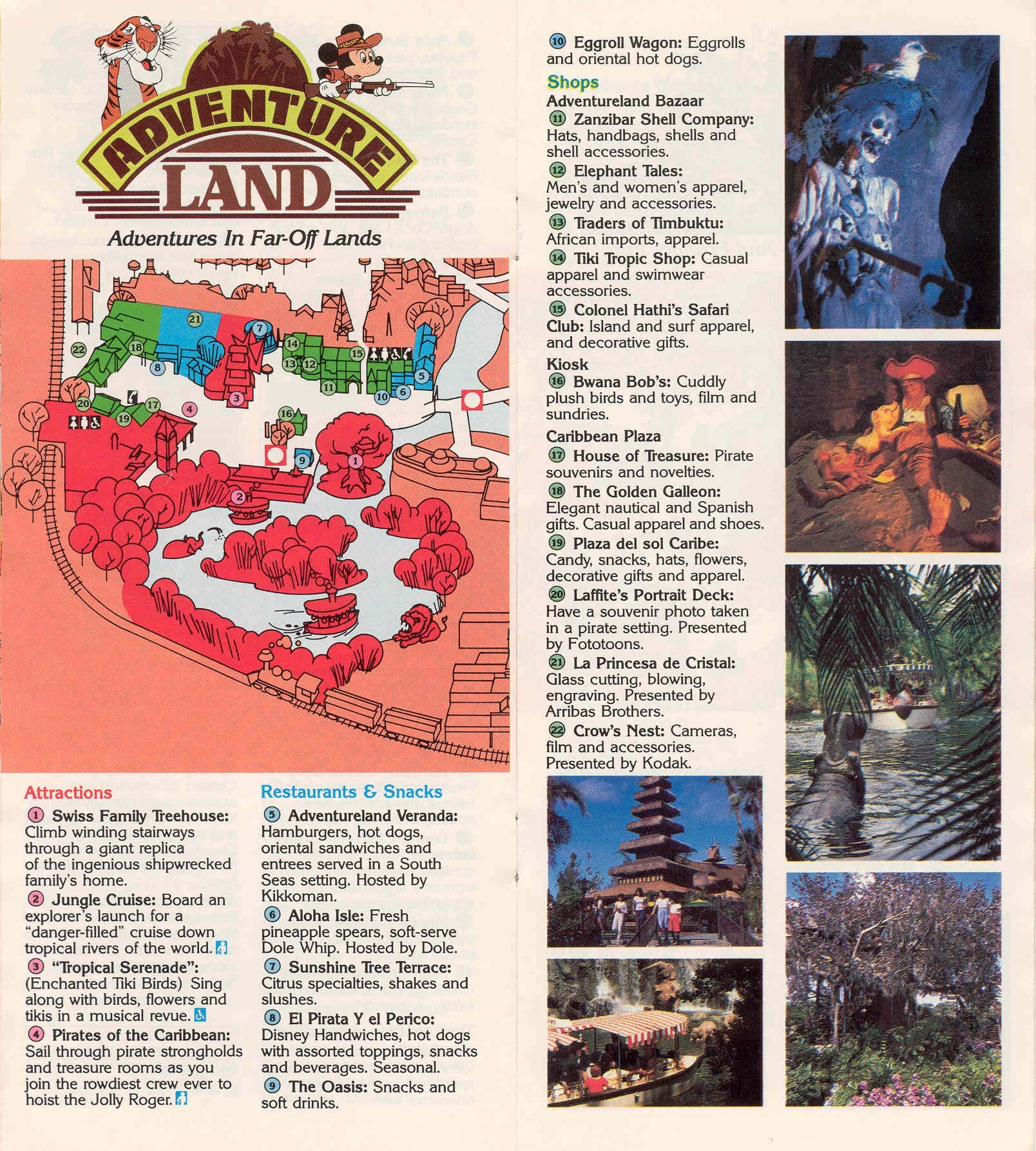 Magic Kingdom Guide Book 1988