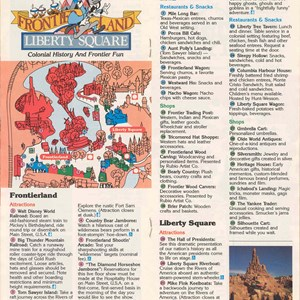 4 of 14: Walt Disney World Park and Resort Maps - Magic Kingdom Guide Book 1988