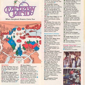 5 of 14: Walt Disney World Park and Resort Maps - Magic Kingdom Guide Book 1988