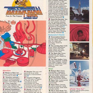 6 of 14: Walt Disney World Park and Resort Maps - Magic Kingdom Guide Book 1988
