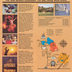 7 of 14: Walt Disney World Park and Resort Maps - Magic Kingdom Guide Book 1988