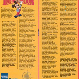 8 of 14: Walt Disney World Park and Resort Maps - Magic Kingdom Guide Book 1988