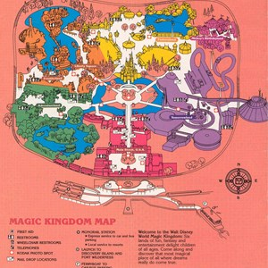 9 of 14: Walt Disney World Park and Resort Maps - Magic Kingdom Guide Book 1988