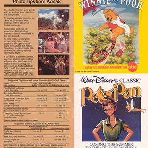 11 of 14: Walt Disney World Park and Resort Maps - Magic Kingdom Guide Book 1988