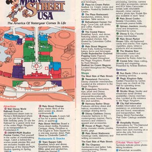 14 of 14: Walt Disney World Park and Resort Maps - Magic Kingdom Guide Book 1988