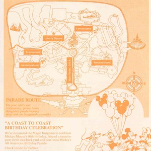 2 of 5: Walt Disney World Park and Resort Maps - Magic Kingdom Show Guide 1989