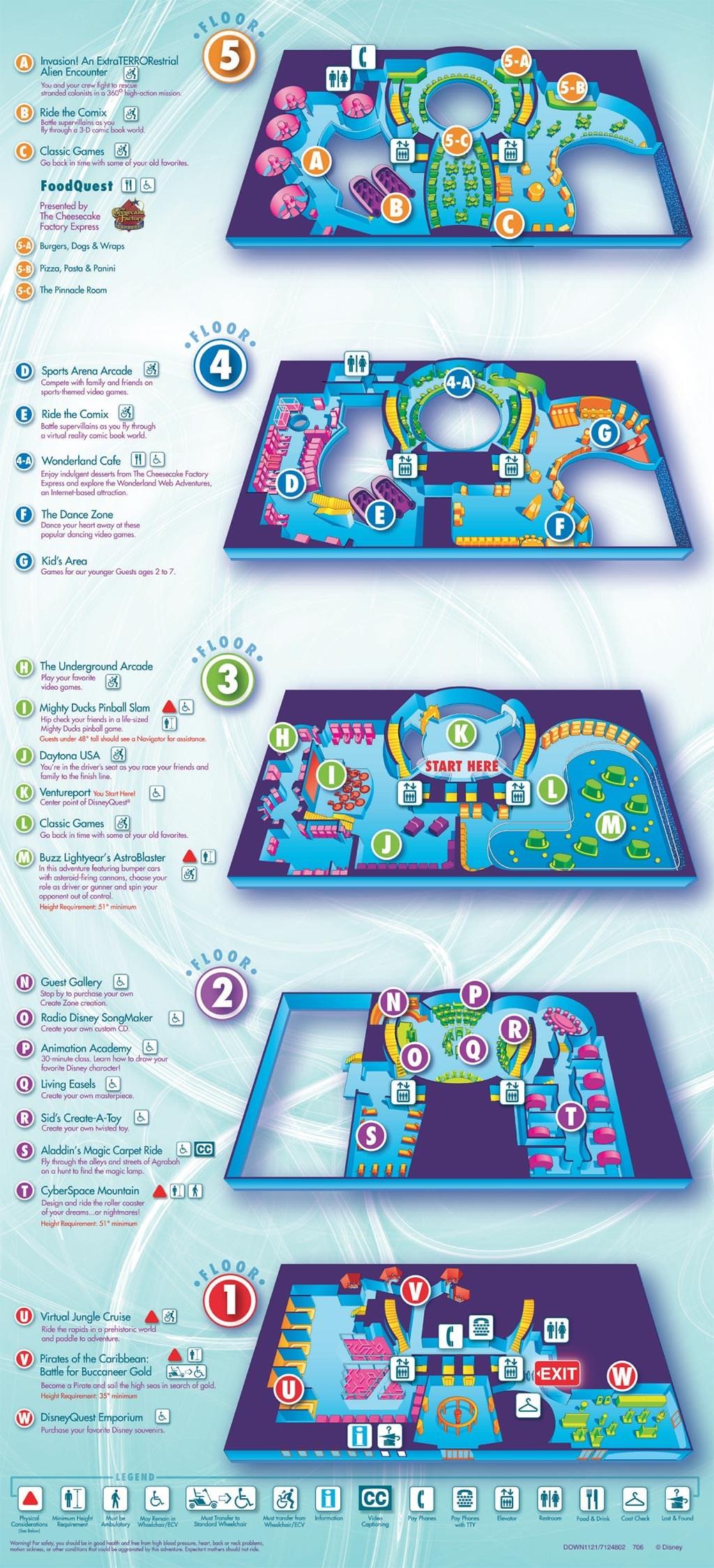 Downtown Disney Maps 2008
