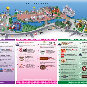 1 of 2: Walt Disney World Park and Resort Maps - Downtown Disney