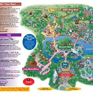 1 of 4: Walt Disney World Park and Resort Maps - Disney's Animal Kingdom map