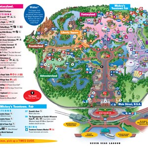 3 of 4: Walt Disney World Park and Resort Maps - Magic Kingdom map