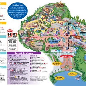 4 of 4: Walt Disney World Park and Resort Maps - Disney's Hollywood Studios map
