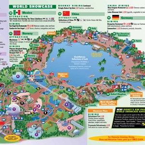 2 of 4: Walt Disney World Park and Resort Maps - Epcot map. Copyright 2010 The Walt Disney Company.