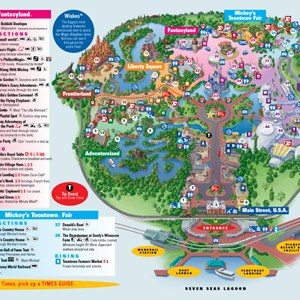 3 of 4: Walt Disney World Park and Resort Maps - Magic Kingdom map. Copyright 2010 The Walt Disney Company.