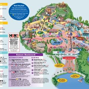 4 of 4: Walt Disney World Park and Resort Maps - Disney's Hollywood Studios map. Copyright 2010 The Walt Disney Company.