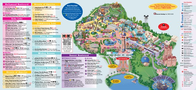 Walt Disney World Park and Resort Maps - Disney's Hollywood Studios map. Copyright 2010 The Walt Disney Company.