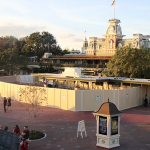 1 of 6: MyMagic+ - MyMagic+ RFID turnstiles construction at Magic Kingdom