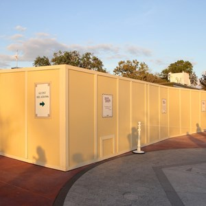 3 of 6: MyMagic+ - MyMagic+ RFID turnstiles construction at Magic Kingdom