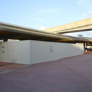 5 of 6: MyMagic+ - MyMagic+ RFID turnstiles construction at Epcot