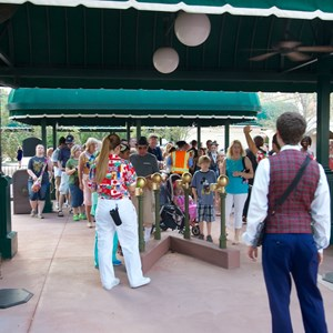 3 of 3: MyMagic+ - MyMagic+ RFID turnstiles open at Epcot's International Gateway