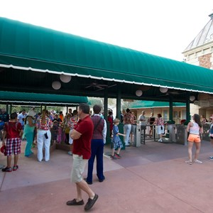 1 of 3: MyMagic+ - MyMagic+ RFID turnstiles open at Epcot's International Gateway