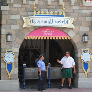 1 of 4: MyMagic+ - FASTPASS+ signage at it's a small world