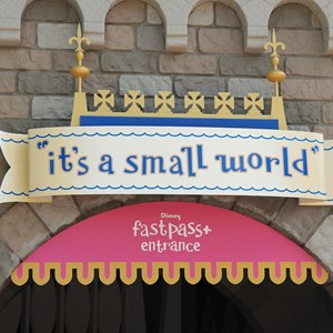 2 of 4: MyMagic+ - FASTPASS+ signage at it's a small world