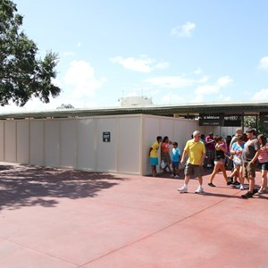 2 of 4: MyMagic+ - Another section of turnstiles are being reconfigured into MyMagic+ touch to enter at the Magic Kingdom