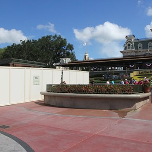 1 of 4: MyMagic+ - Another section of turnstiles are being reconfigured into MyMagic+ touch to enter at the Magic Kingdom