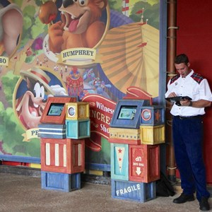 2 of 6: MyMagic+ - FastPass+ kiosk in Storybook Circus
