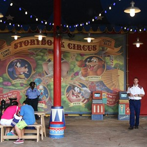 1 of 6: MyMagic+ - FastPass+ kiosks in Storybook Circus