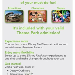 1 of 4: MyMagic+ - FastPass+ flyer for non-resort guests