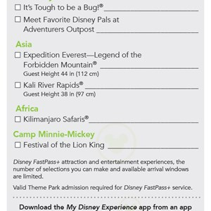 2 of 4: MyMagic+ - FastPass+ flyer for non-resort guests