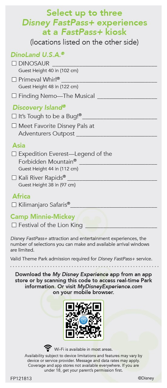 MyMagic+ - FastPass+ flyer for non-resort guests