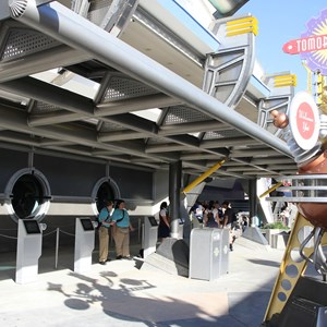 1 of 3: MyMagic+ - FastPass+ kiosks in Tomorrowland