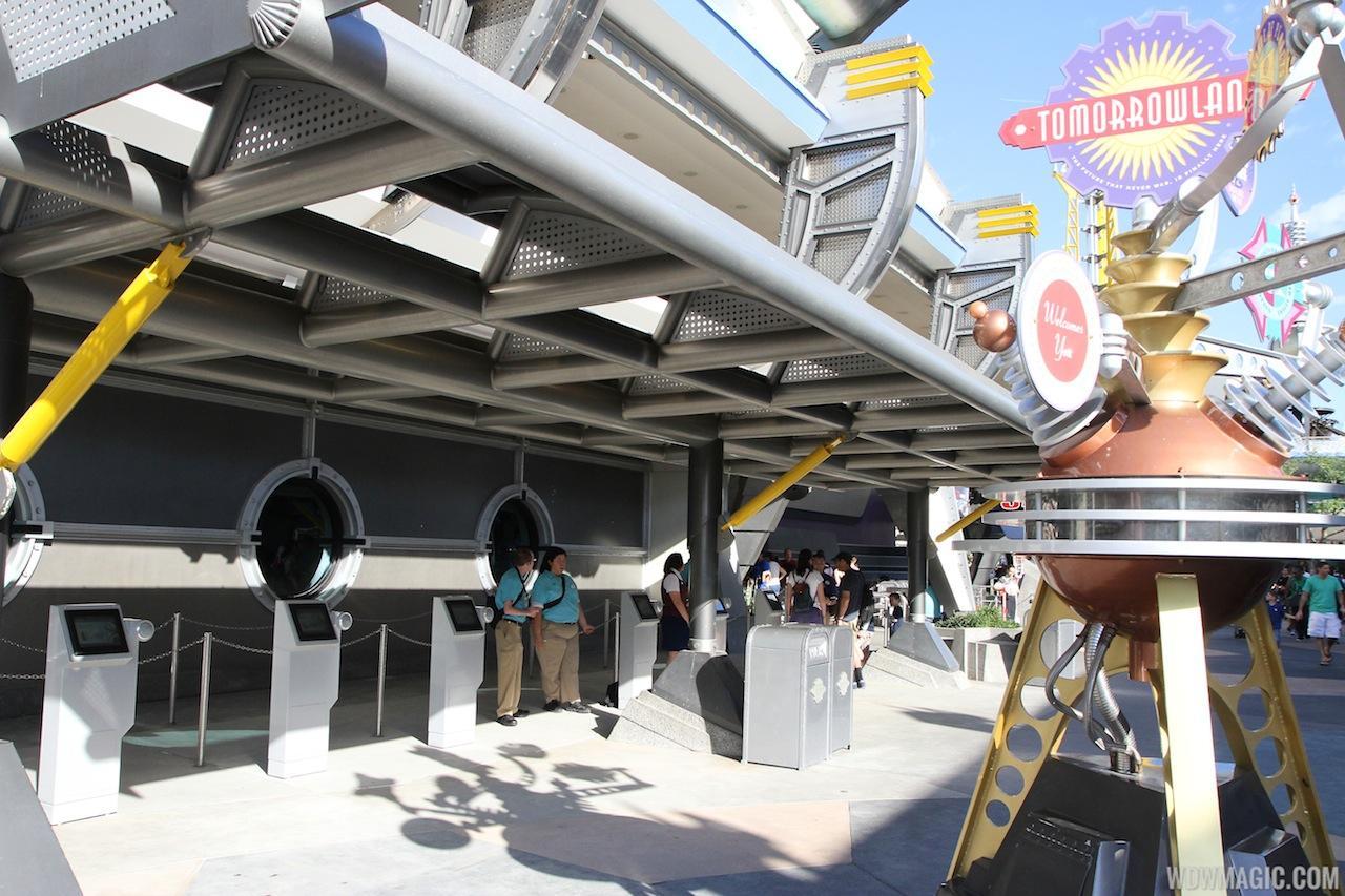 New FastPass+ kiosk in Tomorrowland
