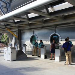 FastPass+ kiosks in Tomorrowland