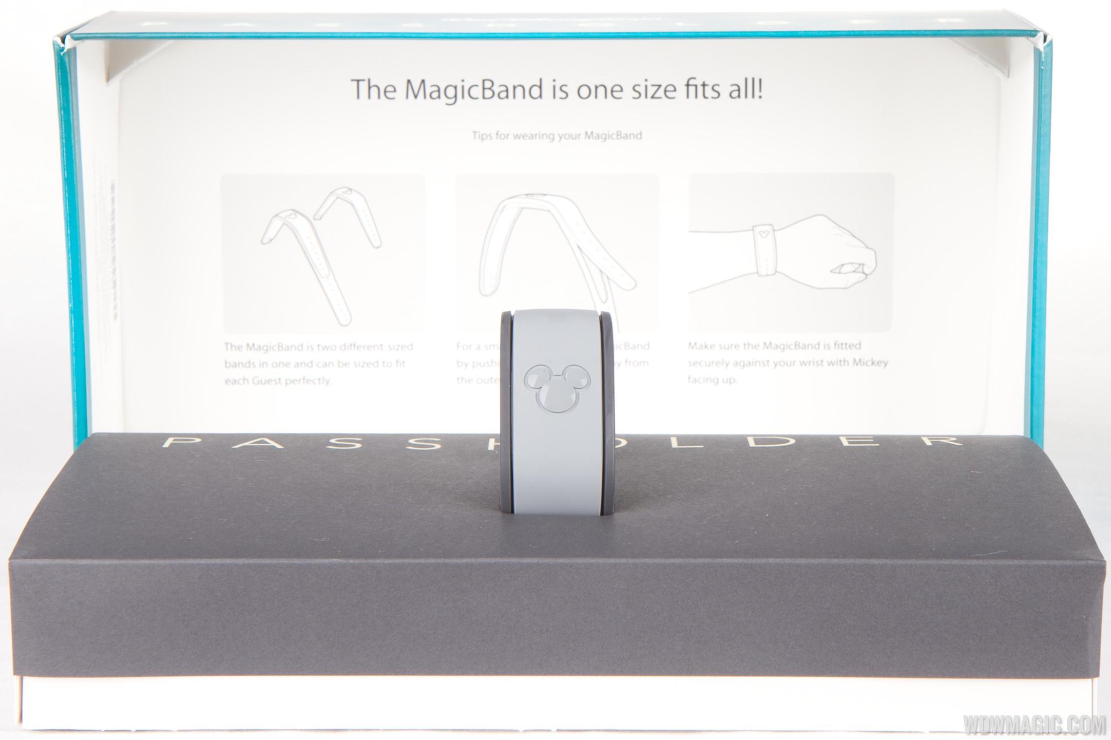 Passholder MagicBand inside the box